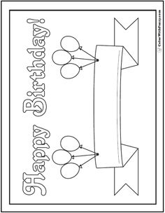 happy birthday coloring banner ; a72c9e07587847d97d740714902b035c--balloon-banner-happy-birthday-balloons
