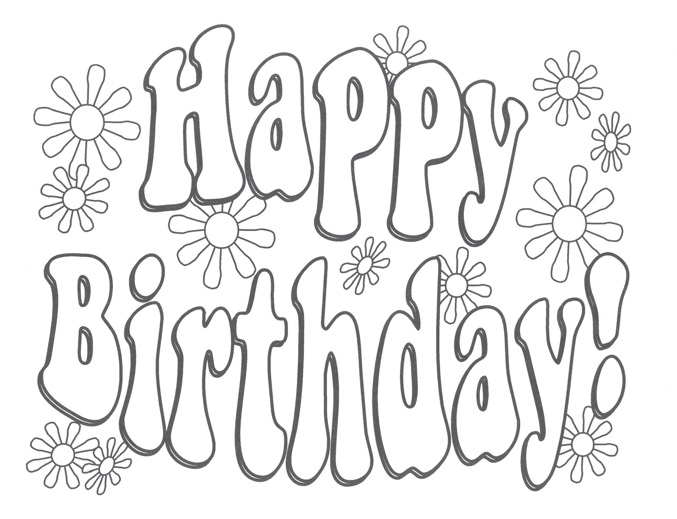 happy birthday coloring banner ; cute-happy-birthday-coloring-pages-clering-sheet-new-mom