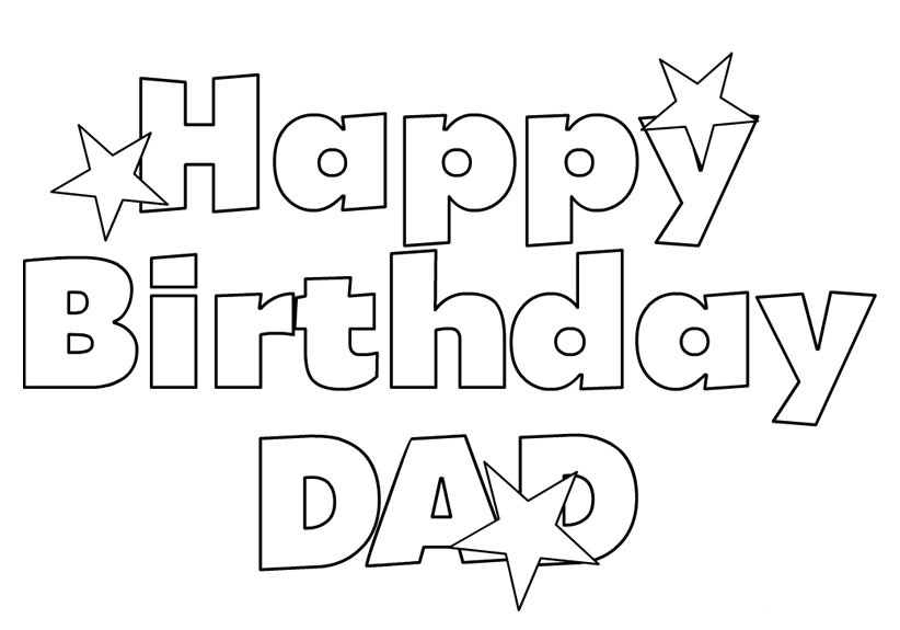 happy birthday coloring sheets printables ; 5-happy-birthday-daddy-coloring-pages