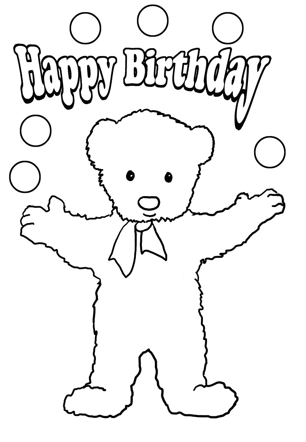 happy birthday coloring sheets to print ; birthday-coloring-teddy-bear-balls