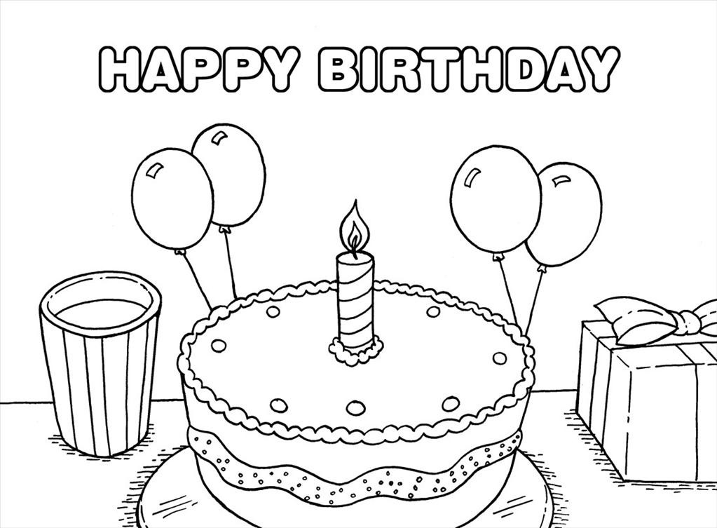 happy birthday coloring sign ; Best-happy-birthday-coloring-page-pic