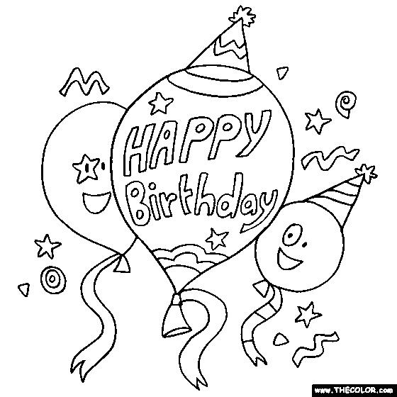 happy birthday coloring sign ; Interesting-Birthday-Coloring-Page-88-On-Free-Coloring-Book-with-Birthday-Coloring-Page
