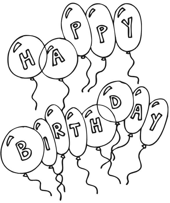 happy birthday coloring sign ; happy-birthday-balloons-coloring-page