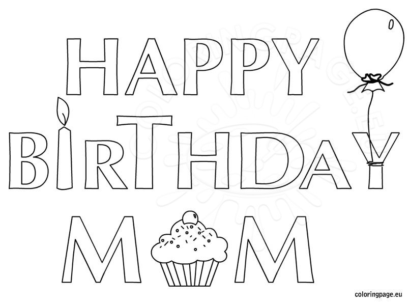 happy birthday coloring sign ; happy-birthday-mom-coloring