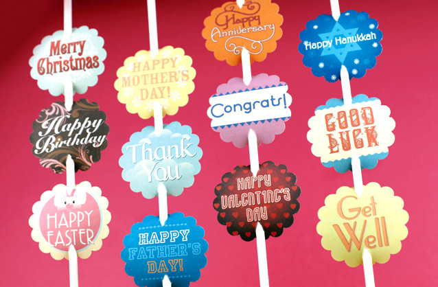 happy birthday free printable tags ; tags