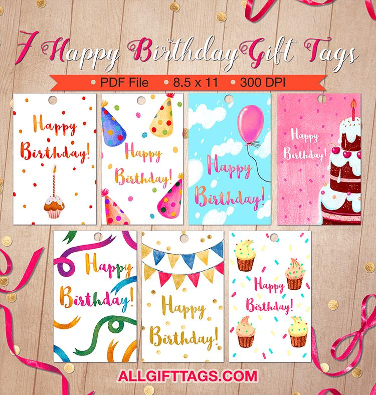 happy birthday gift tag printable ; happy-birthday-gift-tags