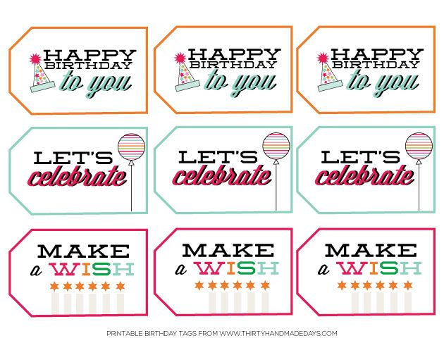 happy birthday gift tag printable ; happy-birthday-tags-from-30handmade-days
