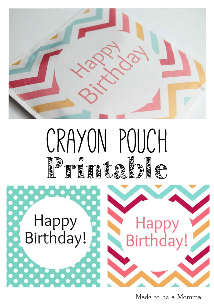 happy birthday gift tag template ; Crayon-Favor-Pouch-Printable