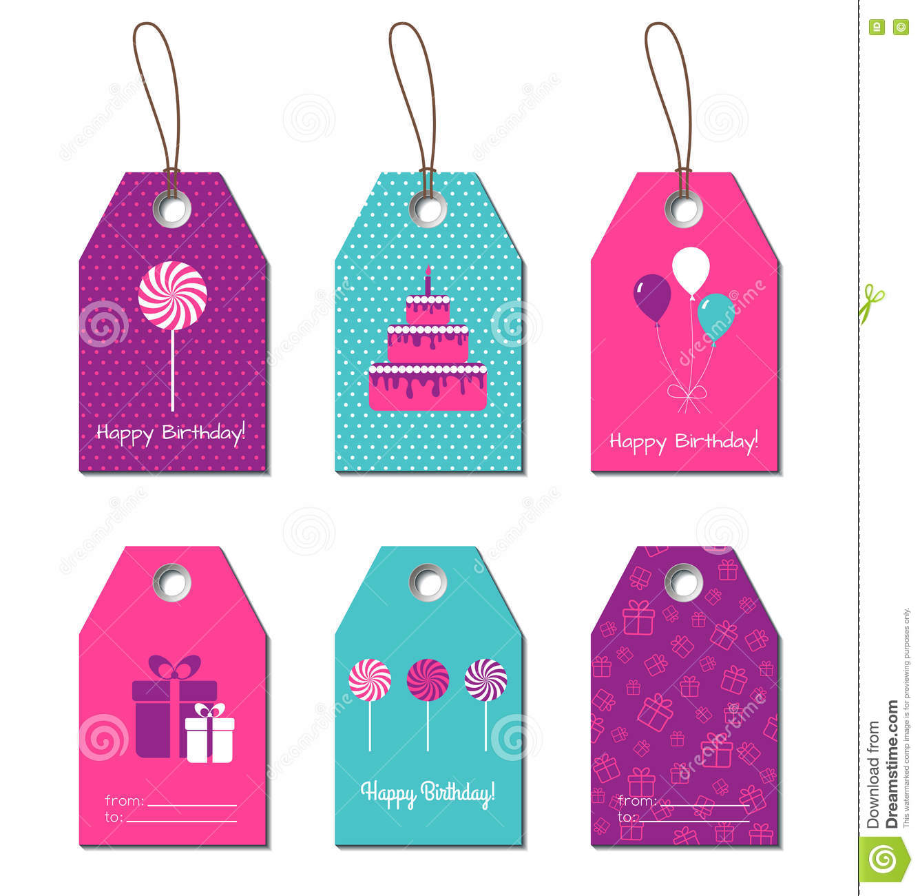 happy birthday gift tag template ; happy-birthday-gift-tags-vector-cards-labels-design-78906600