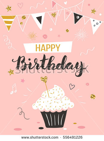 happy birthday greeting card images ; stock-vector-happy-birthday-greeting-card-with-cupcake-and-text-556491226