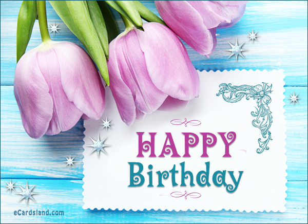 happy birthday greetings message ; ecards-birthday-message-in-a-flower-1478