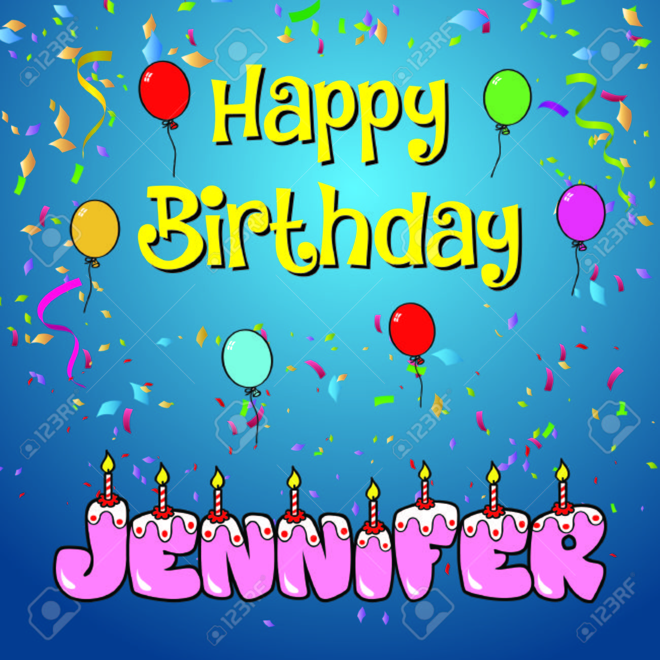happy birthday jennifer photo ; 76572286-happy-birthday-jennifer