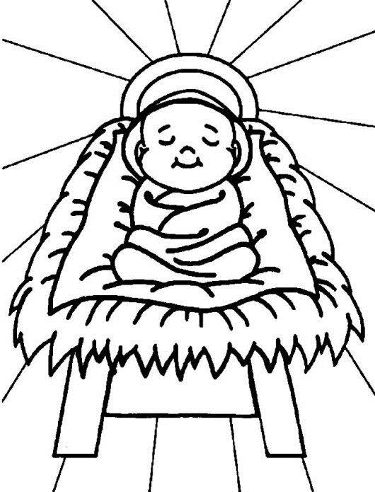 happy birthday jesus color sheet ; 22-baby-jesus-coloring-pages