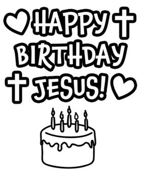 happy birthday jesus coloring sheet ; e163d446b7725ab688178d9669abe5a5