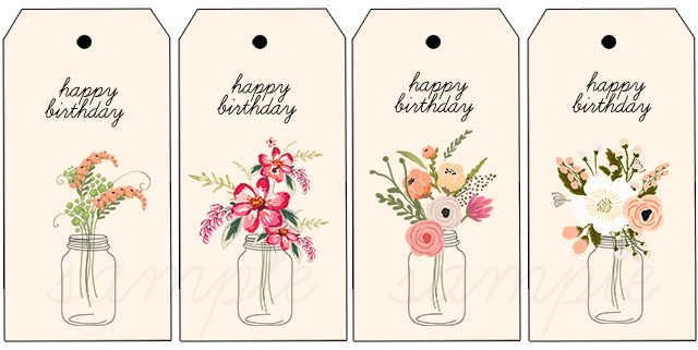 happy birthday labels free printable ; Printable-Happy-Birthday-Gift-Tags