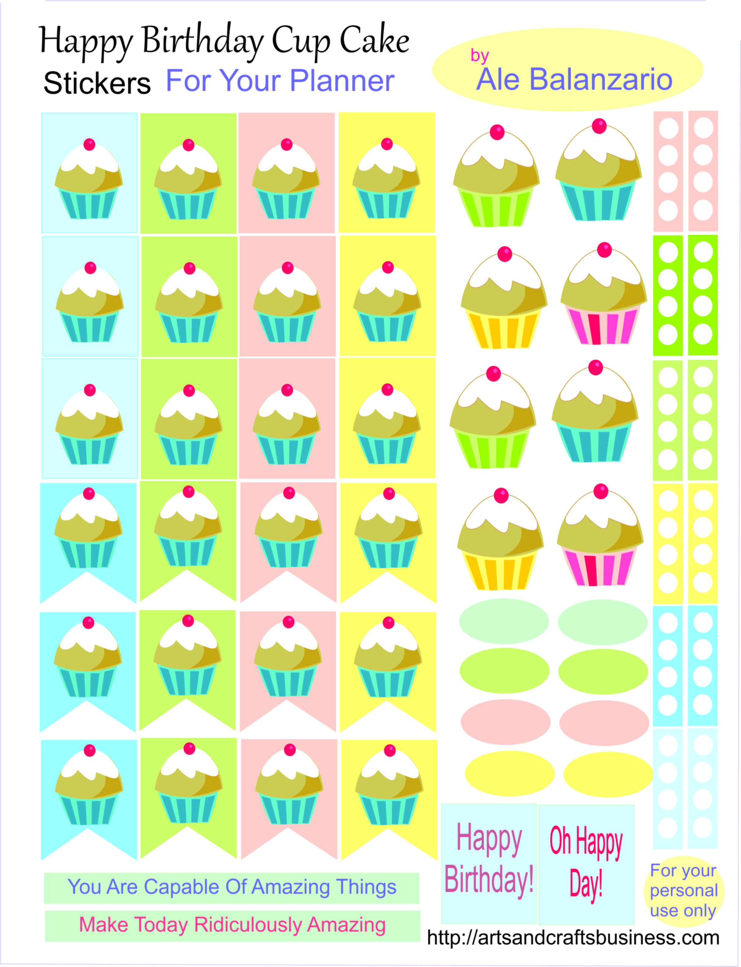 happy birthday labels stickers free ; Birthday-cup-cake-stickers