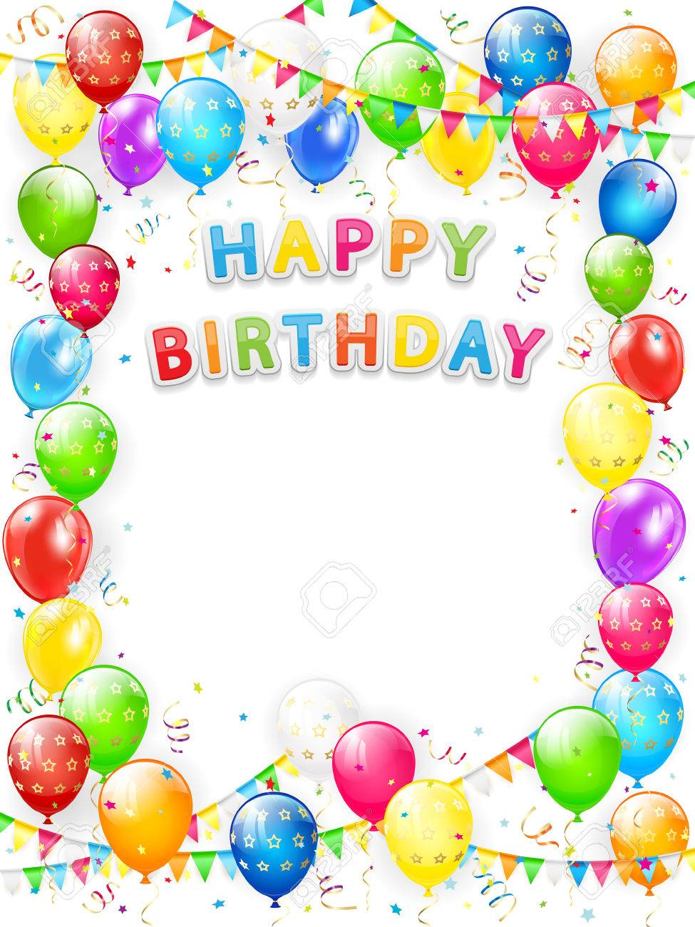 happy birthday picture frame images ; 77887833-lettering-happy-birthday-frame-of-flying-colorful-balloons-multicolored-pennants-streamers-and-confe