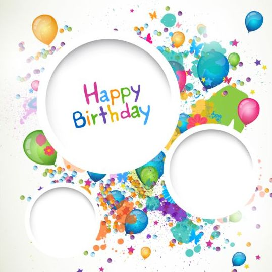 happy birthday picture frame images ; Round-frame-with-Happy-birthday-background-vector