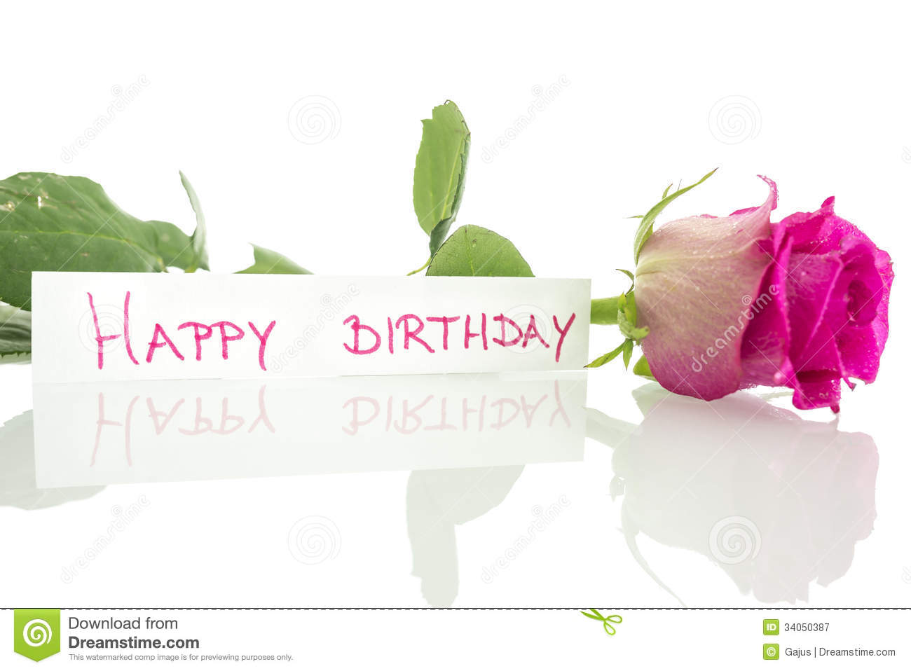 happy birthday picture message free download ; happy-birthday-message-leaning-beautiful-pink-rose-over-white-background-34050387