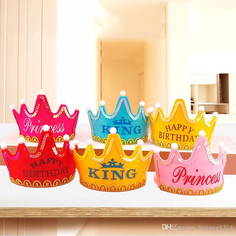 happy birthday pictures and images ; new-happy-birthday-banner-crown-hats-8-pieces
