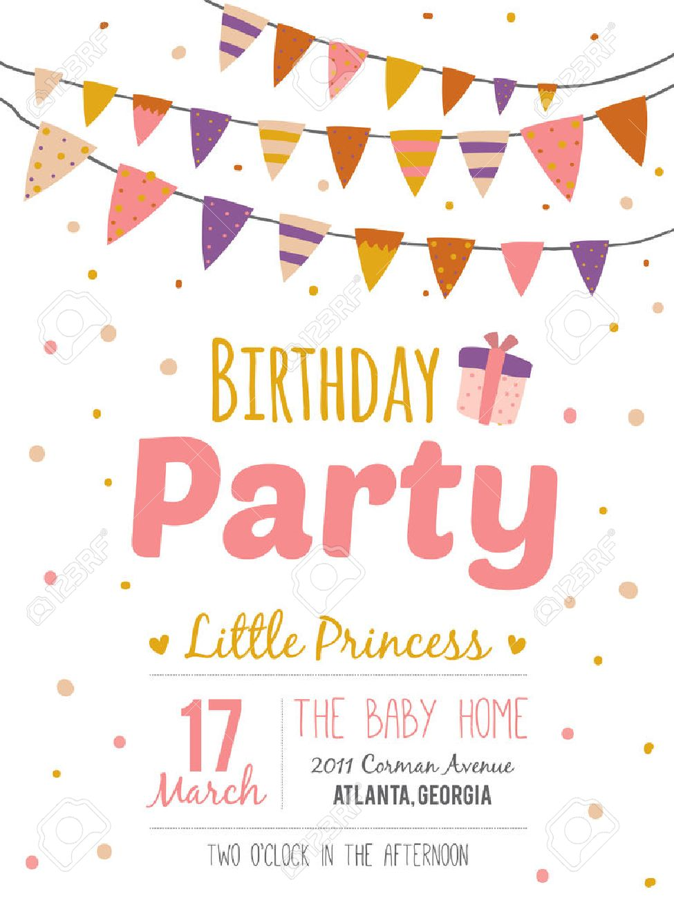 happy birthday poster designs ; 40500387-unusual-inspirational-romantic-and-motivational-quotes-invitation-card-stylish-happy-birthday-poster-Stock-Photo