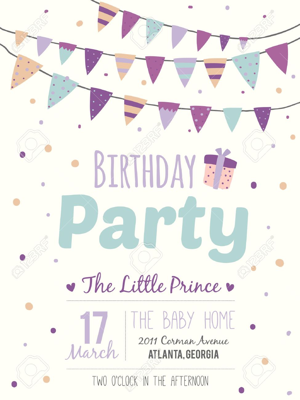 happy birthday poster designs ; 40500388-unusual-inspirational-romantic-and-motivational-quotes-invitation-card-stylish-happy-birthday-poster-Stock-Photo