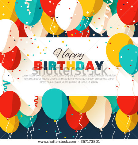 happy birthday poster designs ; stock-vector-colorful-happy-birthday-announcement-poster-flyer-greeting-card-in-a-flat-style-vector-257173801