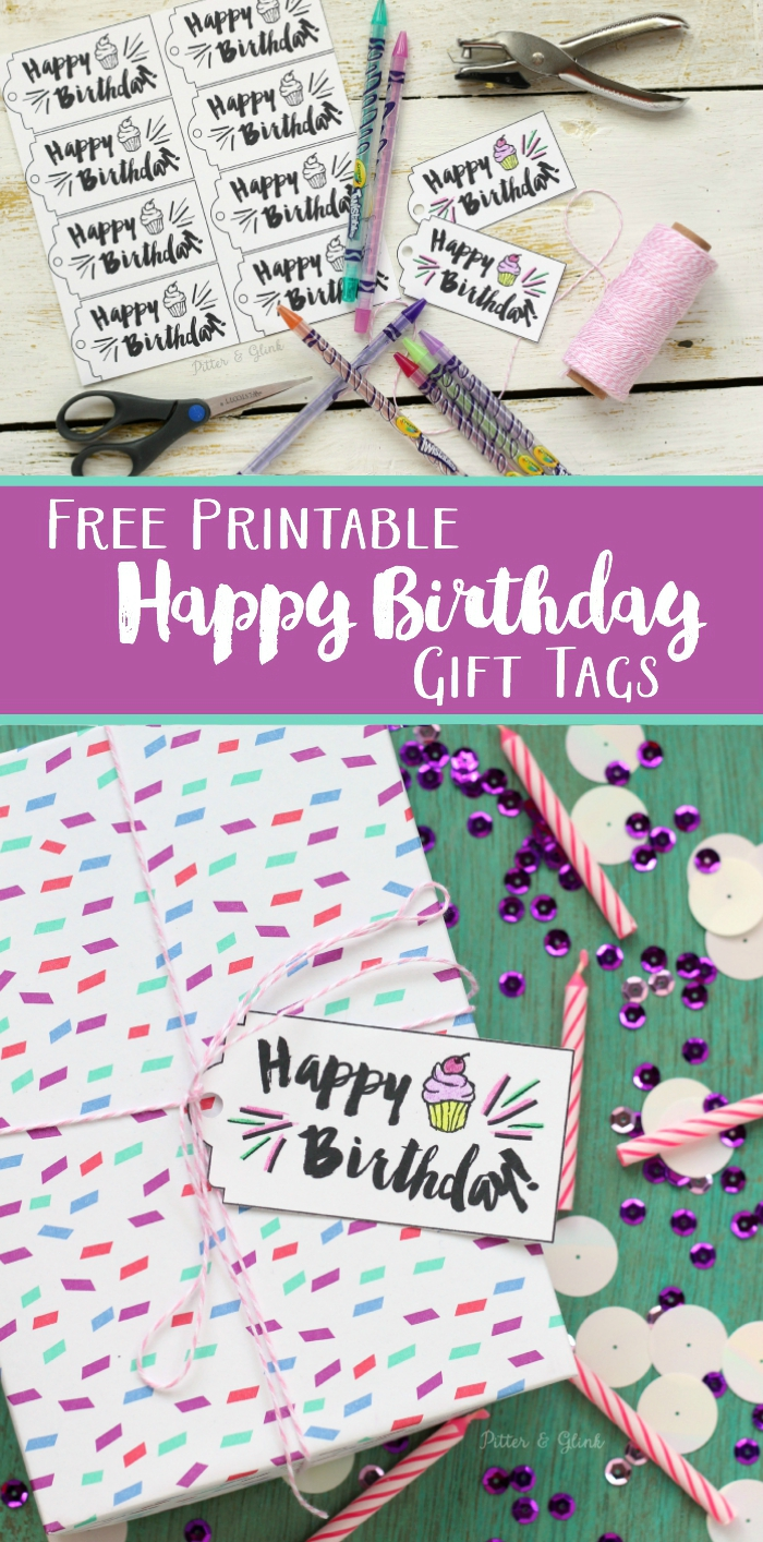 happy birthday printable gift tags ; Happy%252BBirthday%252BGift%252BTag%252BCollage