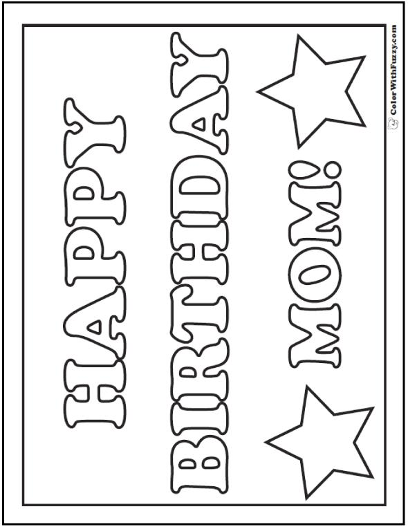 happy birthday sign coloring pages ; happy-birthday-mom-coloring