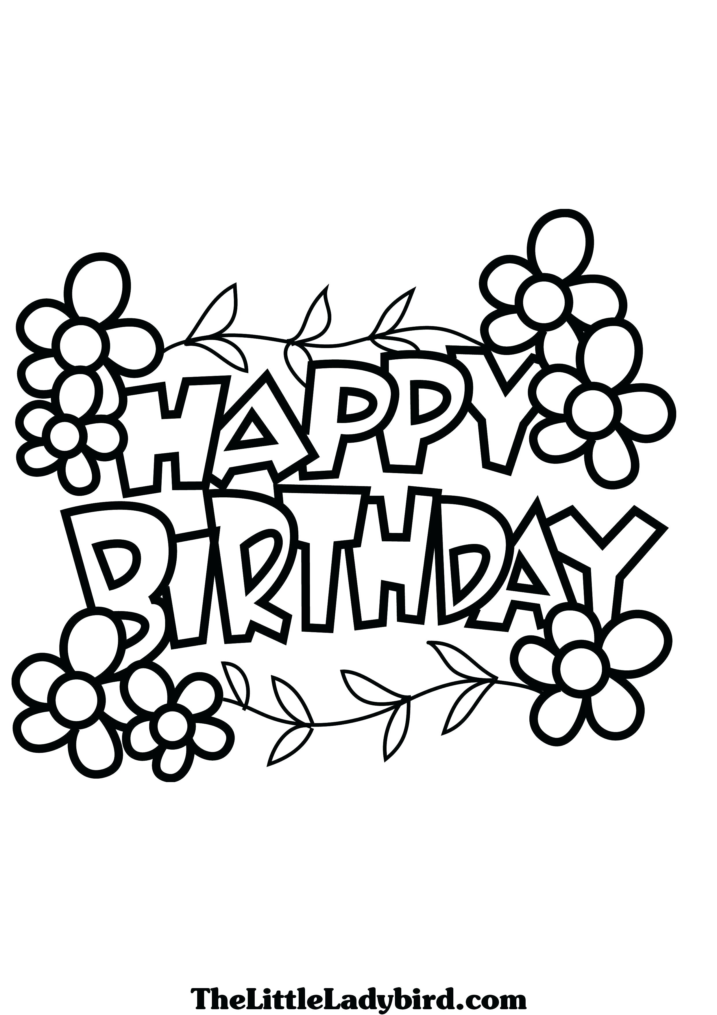 happy birthday sign coloring pages ; happy-birthday-sign-printable-black-and-white-coloring-cool-sheet