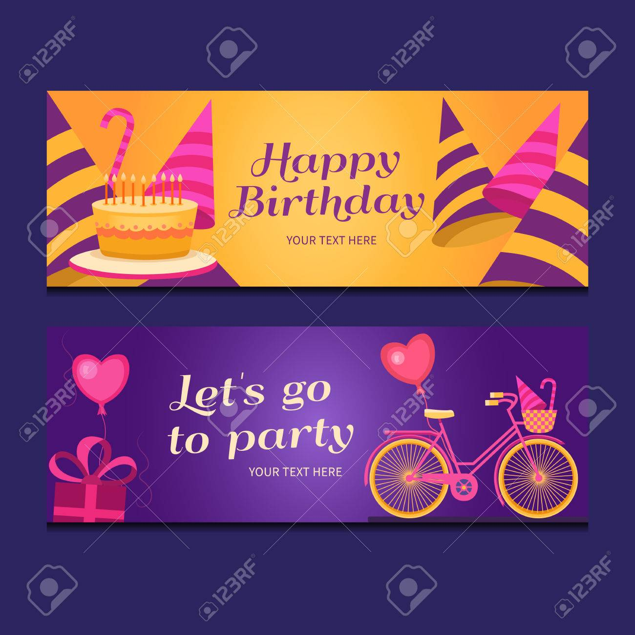 happy birthday sign template ; 62504916-happy-birthday-banners-collection-set-of-greeting-templates-invitation-cards-to-the-party-vector-car