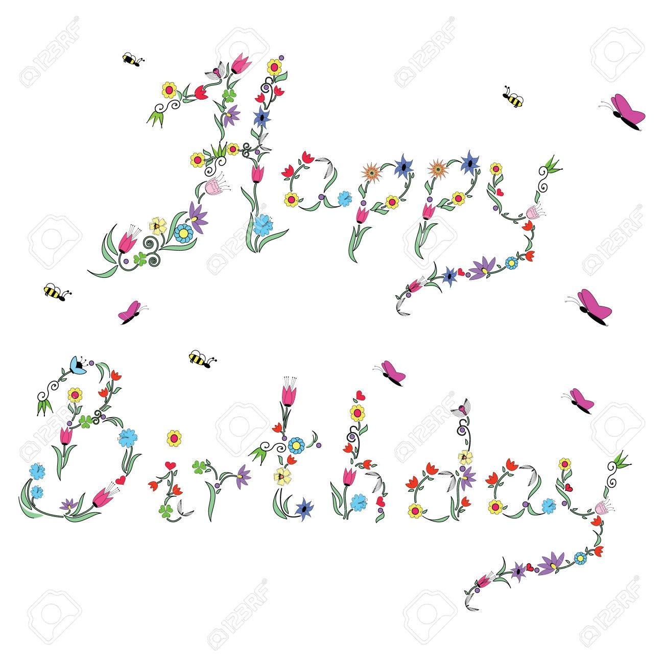 happy birthday sign to color ; 39312232-spring-happy-birthday-sign-in-color-with-floral-elements