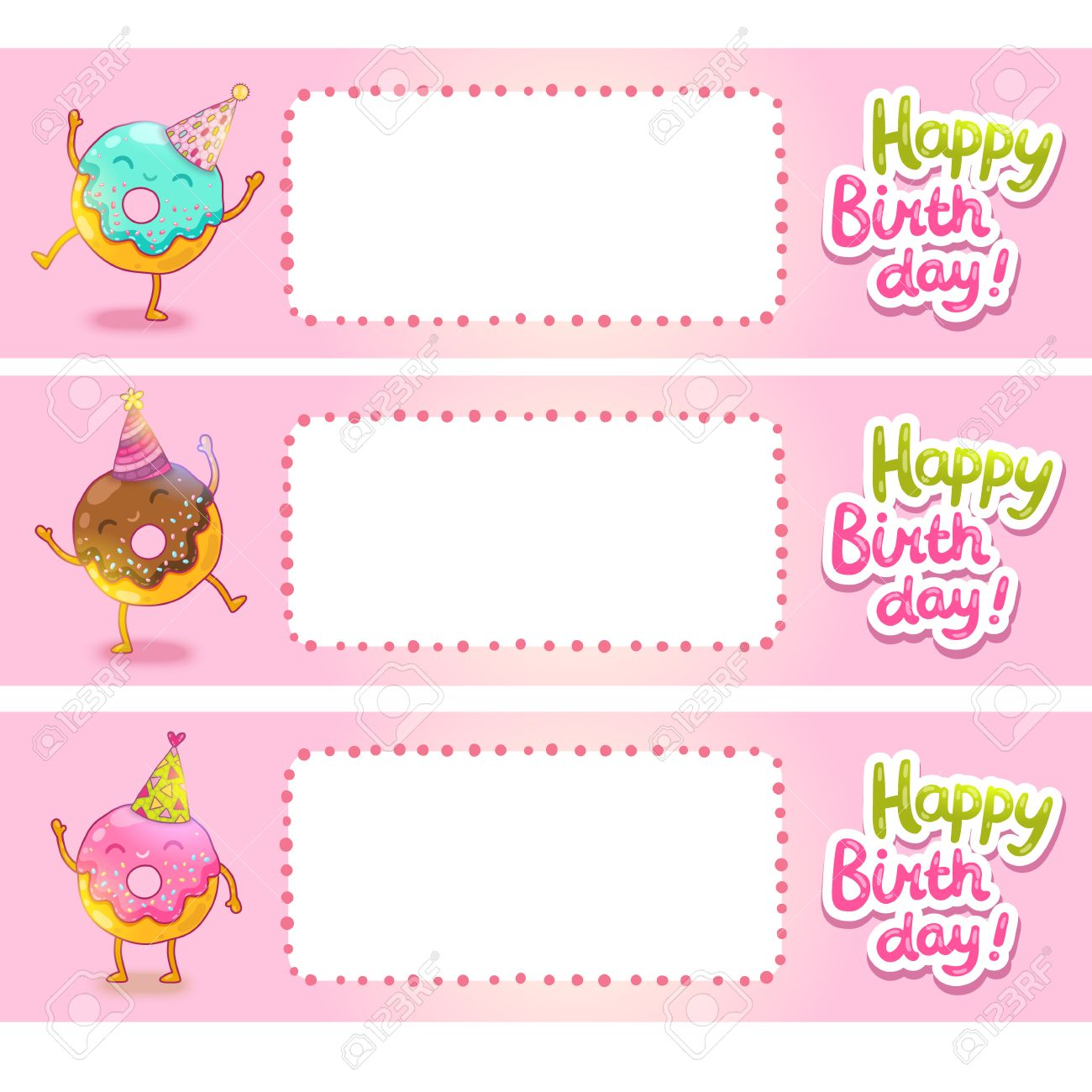 happy birthday sticker template ; 27710629-happy-birthday-card-background-with-cute-donut-vector-holiday-party-template