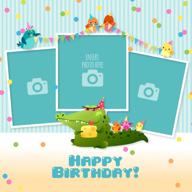 happy birthday sticker template ; birthday-card-with-templates-for-photos_1210-33
