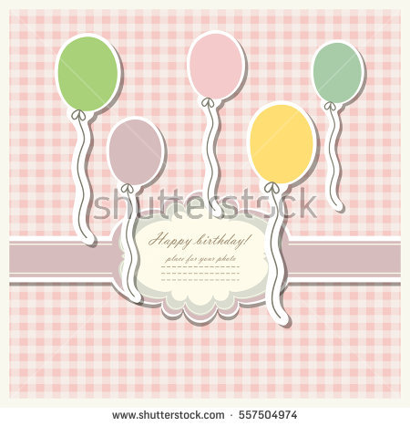 happy birthday sticker template ; stock-vector-romantic-scrap-booking-template-for-invitation-greeting-baby-shower-card-happy-birthday-label-557504974