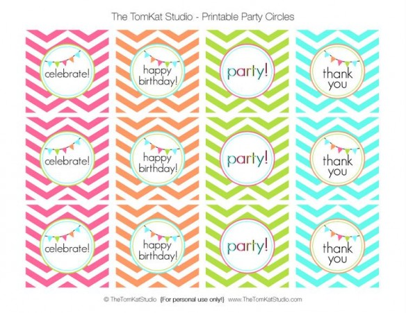 happy birthday stickers printable ; bright-chevron-party-circles-tomkat-studio-TCC-584x451