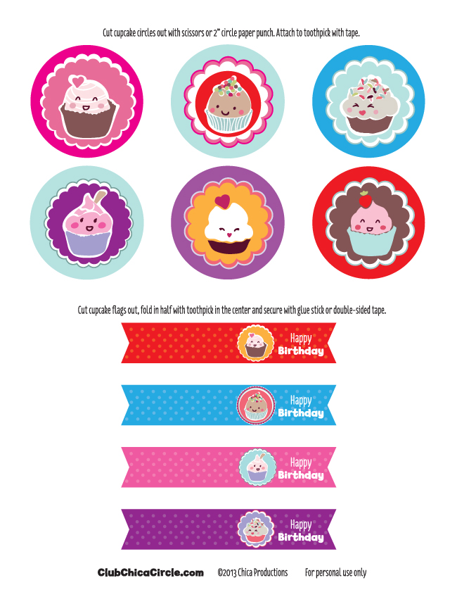 happy birthday tag printable ; Happy-Birthday-cupcake-tags-free-printable
