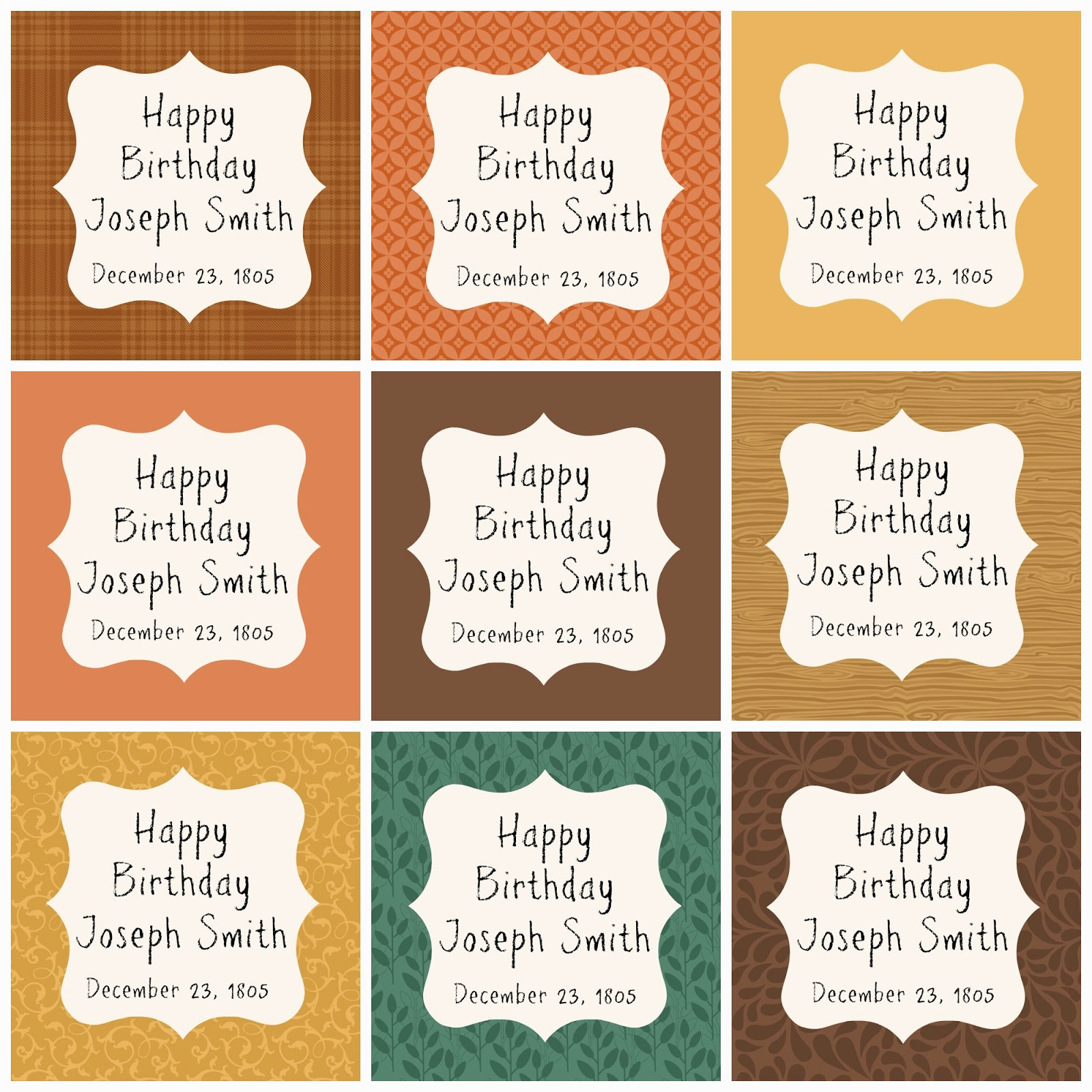 happy birthday tag printable ; Joseph%252BSmith%252BTags