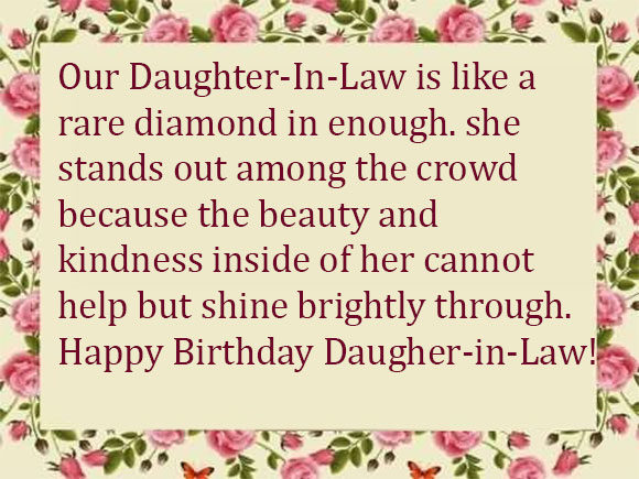 happy birthday wishes and messages ; Birthday-Greeting-Messages-for-Daughter-in-law-580x435
