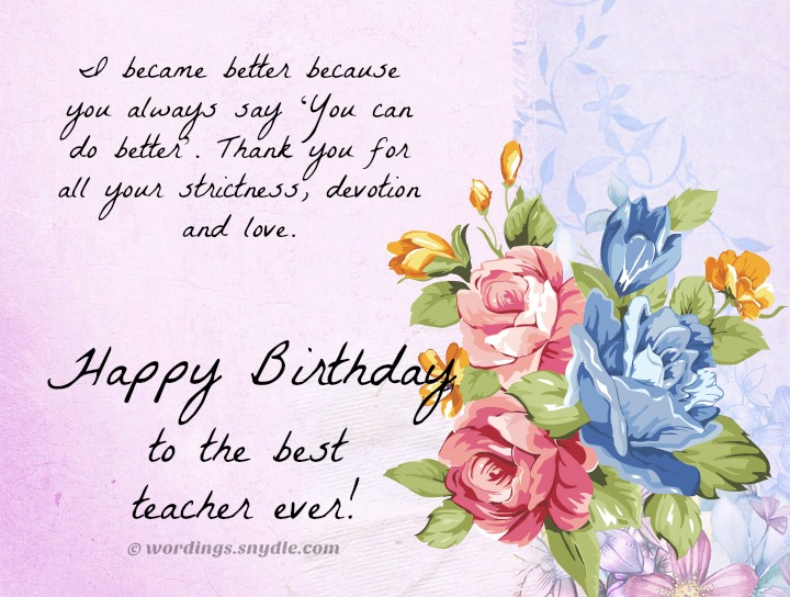 happy birthday wishes and messages ; birthday-wishes-for-teacher-with-picture