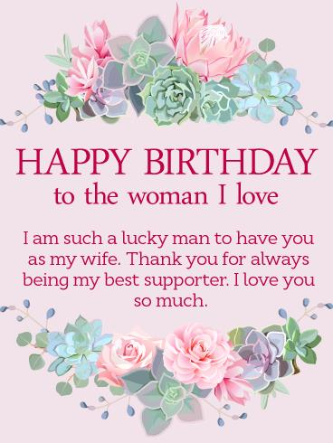 happy birthday wishes card download ; greeting-cards-for-wife-birthday-to-the-woman-i-love-happy-birthday-wishes-card-for-wife-download