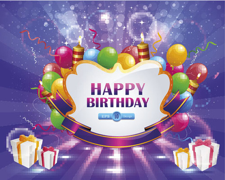 happy birthday wishes card download ; happy_birthday_elements_card_vector_550319