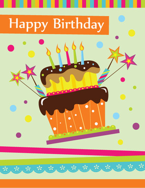 happy birthday wishes card download ; vector_set_of_happy_birthday_cake_card_521969
