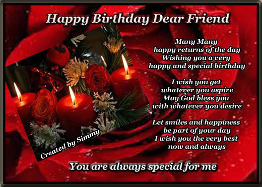 happy birthday wishes card for best friend ; 303816