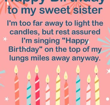 happy birthday wishes card for sister ; To-my-Sweet-Sister-Happy-Birthday-Wishes-Card-One-wish-for-each-birthday-cand-368x350