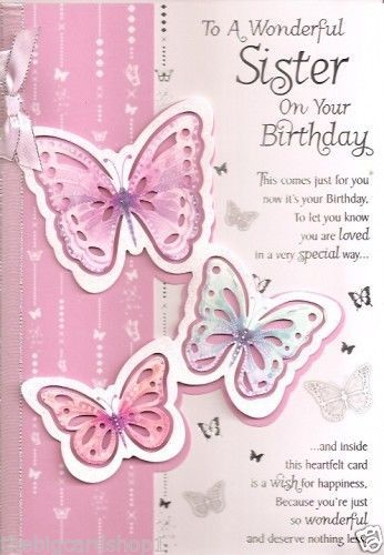 happy birthday wishes card for sister ; happy-birthday-sister-card-pink-cute-background-completing-with-some-unique-butterflies-adding-by-simple-design-looked-so-natural-and-awesome