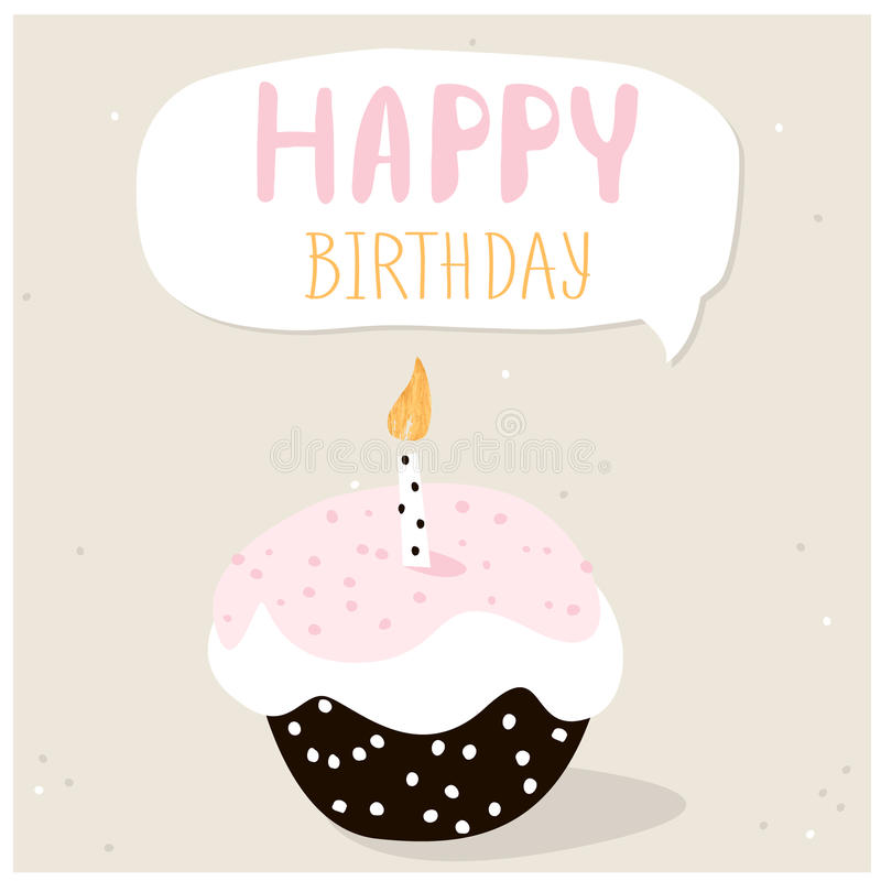 happy birthday wishes greeting cards images ; cute-cupcake-happy-birthday-wish-greeting-card-template-creative-happy-birthday-background-vector-illustration-79672842