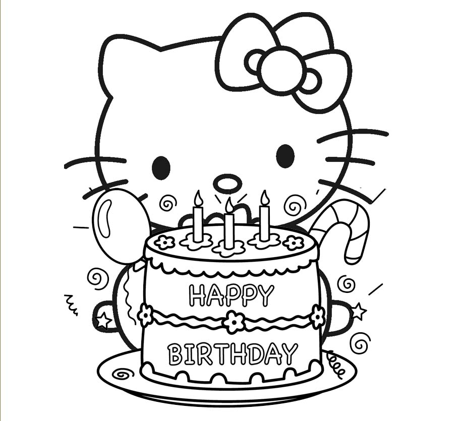 hello kitty birthday coloring sheets ; Hello-kitty-coloring-pages-birthday