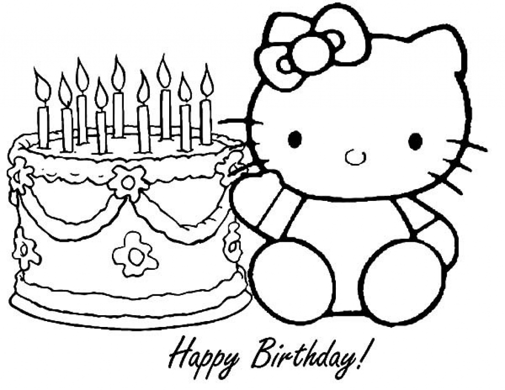 hello kitty birthday coloring sheets ; hello-kitty-coloring-pages-birthday-children-with