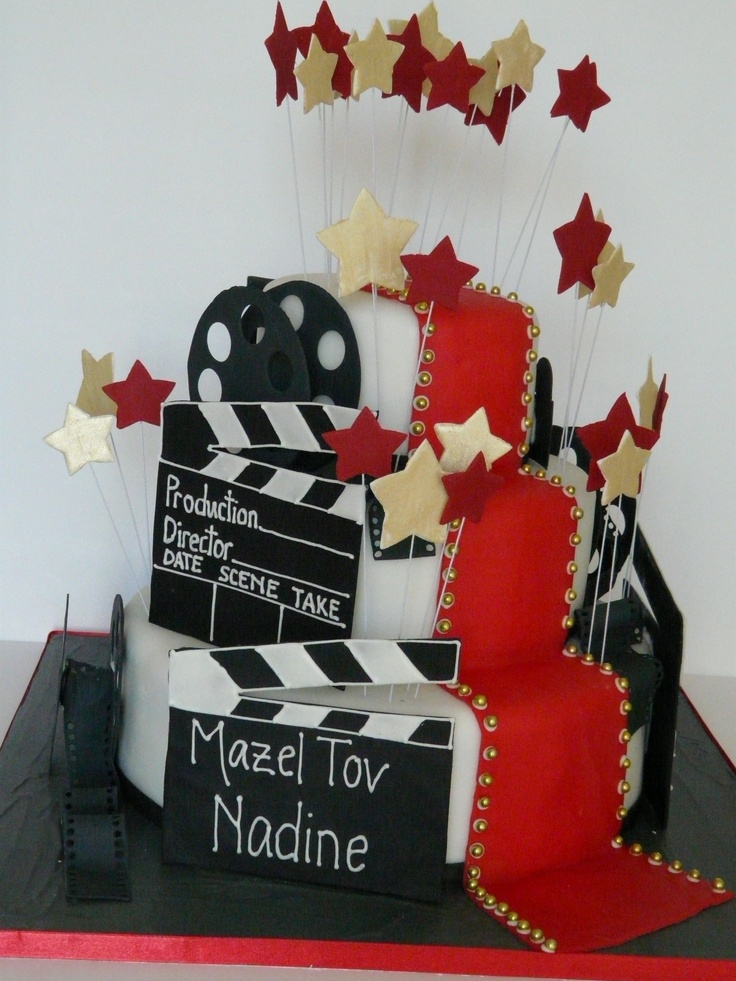 hollywood themed birthday cake design ; 1c07d641624b7f2a3f31f3ea694d1d40--hollywood-cake-old-hollywood-wedding